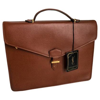 Yves Saint Laurent  Leather Briefcase