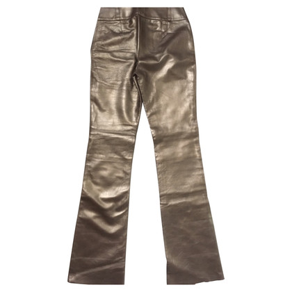 D&G D&G Dolce Gabbana leather trousers gold