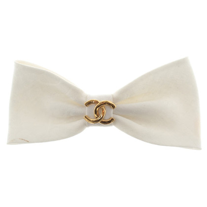 Chanel Hair Bow in White