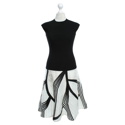 Escada Dress in black / white