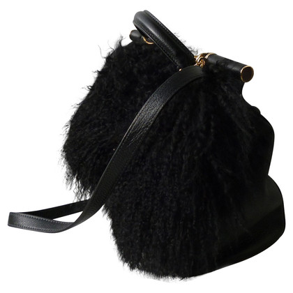Dolce & Gabbana SICILY Fur Handbag
