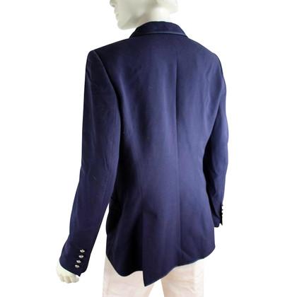 Escada Blauwe blazer in scheerwol