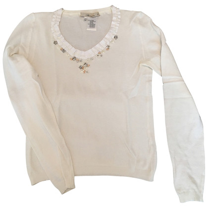 Blumarine Long-sleeved shirt with a jewelry collar