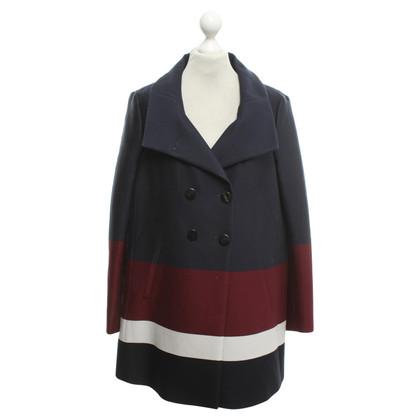 René Lezard Coat with striped pattern