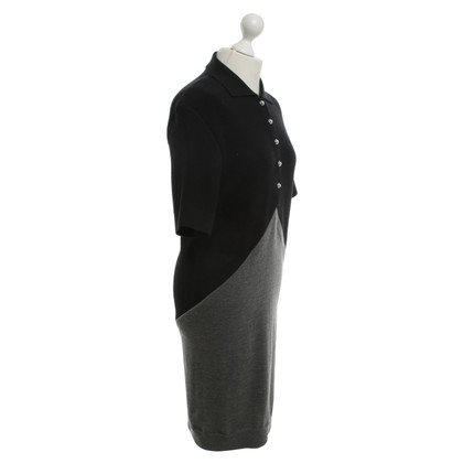 Balenciaga Woolen dress in dark gray / black