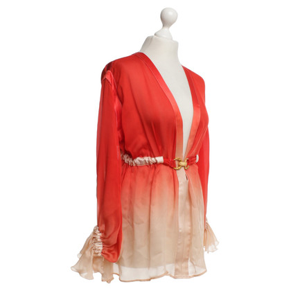 Roberto Cavalli Silk blouse in red