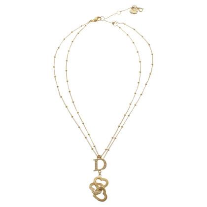 Christian Dior Collana delicata in tono oro