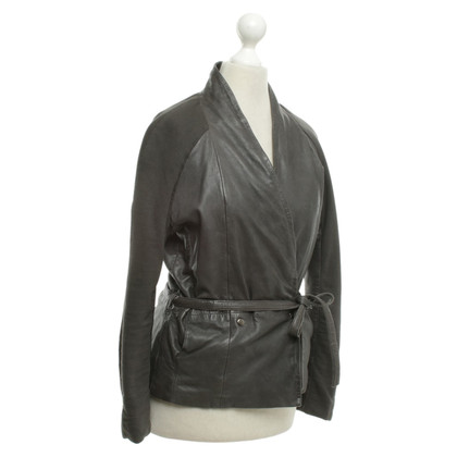 Humanoid Leather jacket in grey