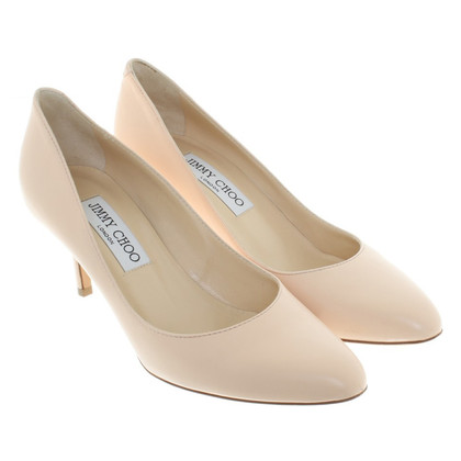 Jimmy Choo nude coloured pumps