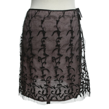 Blumarine skirt with embroidery