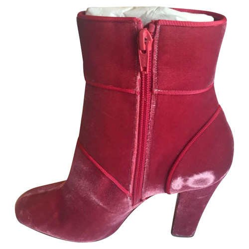 low priced 59565 99eb9 Christian Louboutin Ankle boots in fuchsia - Second Hand ...