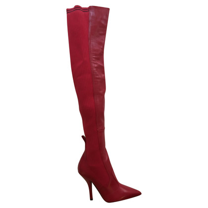 Fendi Boots in red
