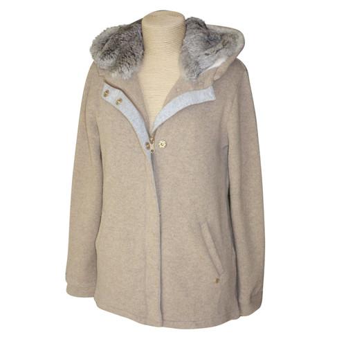 official photos 54470 8cf13 Woolrich Jacket/Coat Wool in Beige - Second Hand Woolrich ...