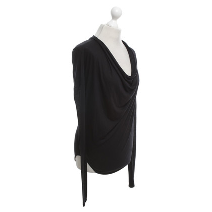 Helmut Lang Waterval-shirt van zwart