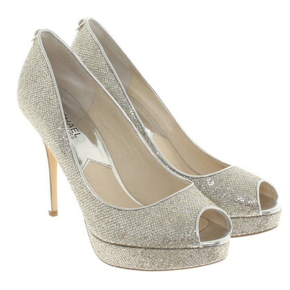 Michael Kors pumps Silvery