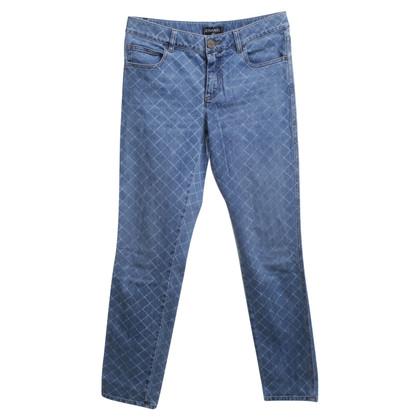 Chanel Jeans avec motif Argyle