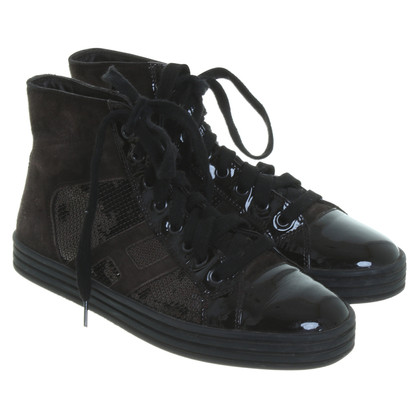 Hogan High-end sneakers in dark brown