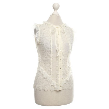 Wolford Lace top with ruffles