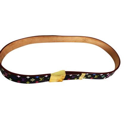 Louis Vuitton Leather belt from Monogram Mulitcolore Noir