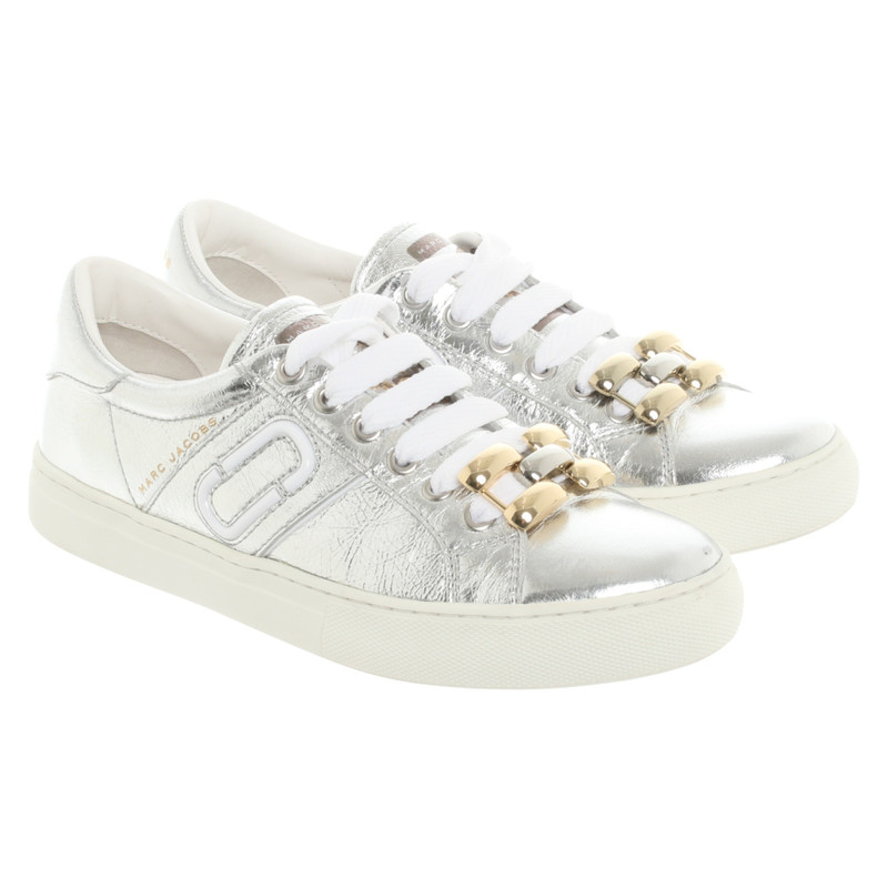 Marc Jacobs Trainers Leather in Silvery