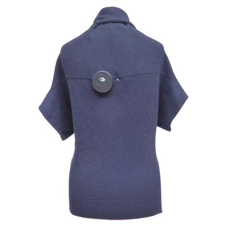 Brunello Cucinelli Pullover mit Wickeleffekt Blau Freiheit 100% Garantiert Geschäft Zum Verkauf LJ8CmkUzc6