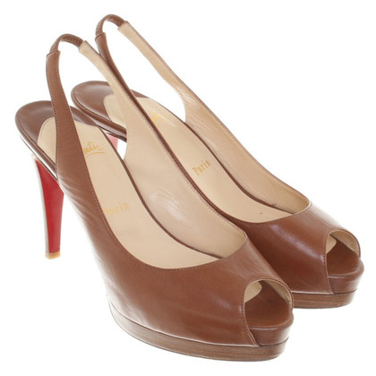 Christian Louboutin Peeptoes à Brown