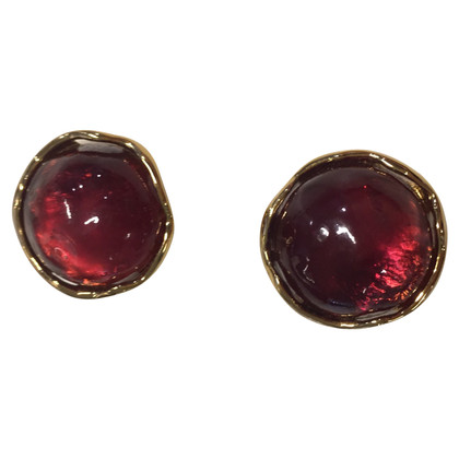 Yves Saint Laurent Ear clips with red stone