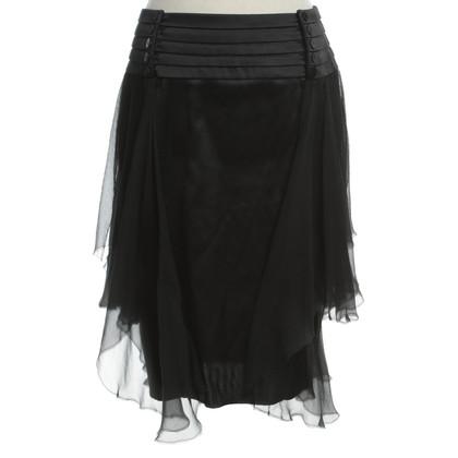 La Perla Silk skirt in black