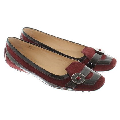 Tod's Ballerina with patent leather elements