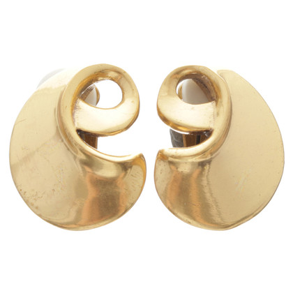 Oscar de la Renta Clip earrings in gold