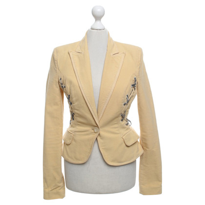 Just Cavalli Blazer in mosterdgeel