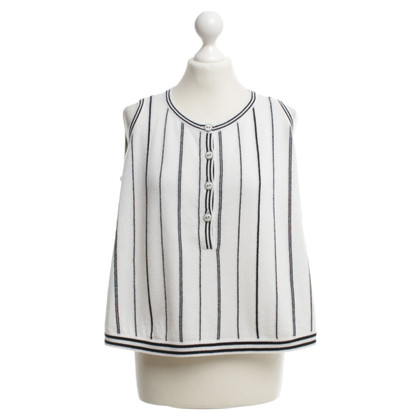 Chanel Striped top in blue / white