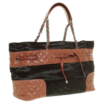 Chanel Brown bag with fur