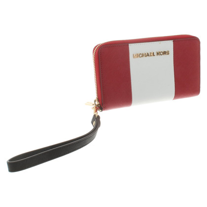 Michael Kors Wallet in red / white