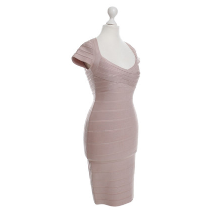 Herve Leger Bodycon jurk in nude