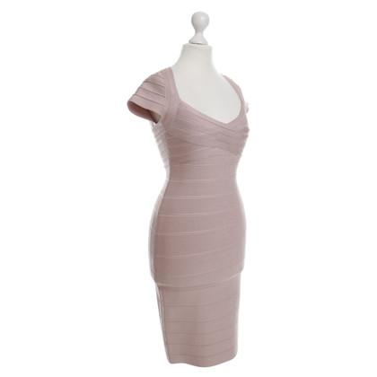 Herve Leger Bodycon-Kleid in Nude