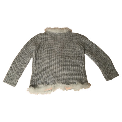 Anna Molinari cardigan with blue fox hair