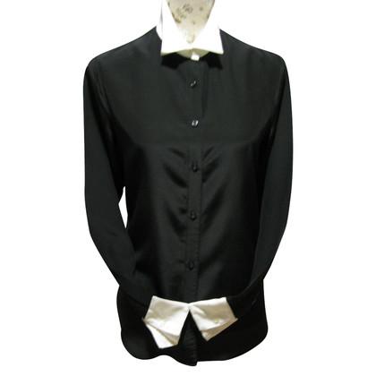 Ralph Lauren Zijden blouse met witte kraag