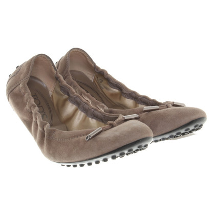 Tod's Ballerines marron clair