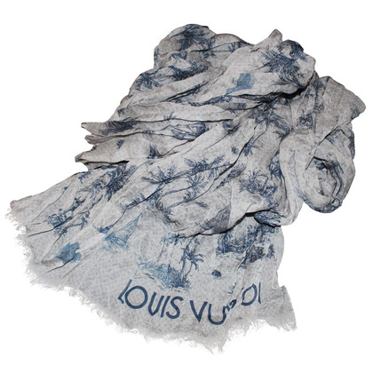 "Louis Vuitton Sciarpa in lino ""Palm"""