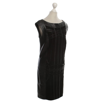 Laurèl Leather dress with application