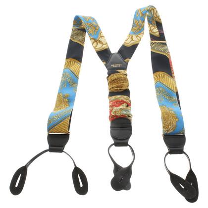 Hermès Suspenders silk