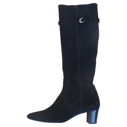 Unützer Stivali in camoscio nero