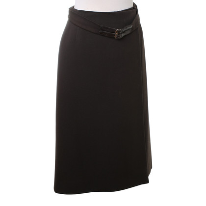 Hermès skirt in dark brown
