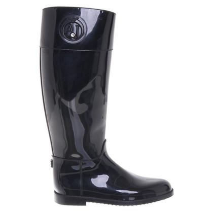 Armani Rubber boots in black