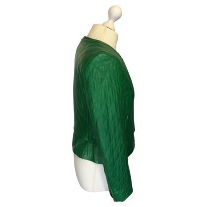St. Emile giacca di pelle trapuntata in verde