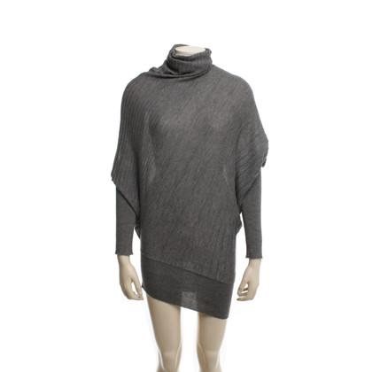 Agnona maglione asimmetrico in grigio