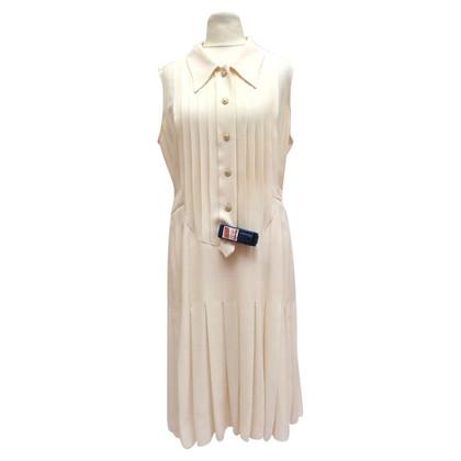 Chanel Seidenkleid mit Logoknöpfen