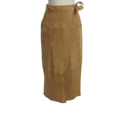 JOOP! Suede wrap skirt