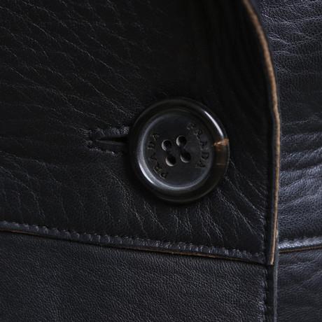 ... Prada Lederjacke in Schwarz Schwarz Niedrig Versandkosten Für Verkauf  Top-Qualität Verkauf Online Beste Authentisch ... fc775a22f9